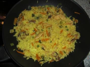Rezept: Hähnchen Reispfanne