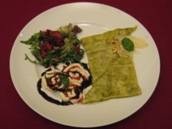 Pesto-Lasagne und Tomaten-Mozzarella-Rolle - Rezept