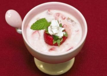 Erdbeer-Minze-Creme (Konrad Krauss) - Rezept