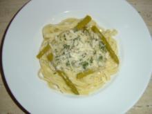 Tagliatelle mit grünem Spargel - Rezept
