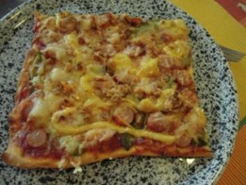 Hot-Dog-Pizza - Rezept
