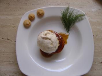 Rezept: Gebratene Äpfel mit Eis