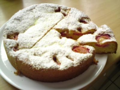 Gedeckter Zwetschgenkuchen - Rezept