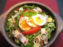 Matjes-Salat mit grünen Bohnen und Speck - Rezept - Bild Nr. 8372