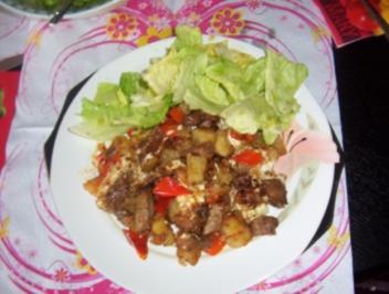 Gaby´s Gyrospfanne mit Kartoffeln - Rezept