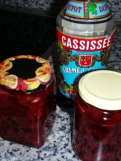 Johannisbeer-Cassis-Konfitüre - Rezept