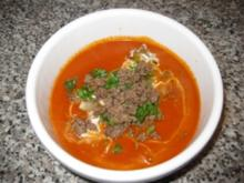 Cremige Tomaten-Hack-Suppe... - Rezept