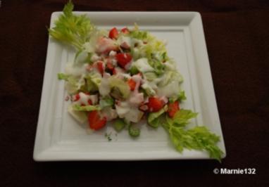 Putensalat mit Erdbeeren - Rezept