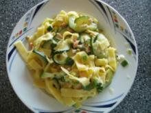 Lachs-Gemüse- Nudeln - Rezept