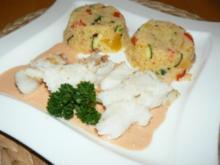 Filet vom schwarzen Heilbutt mit buntem Couscous-Gemüse - Rezept