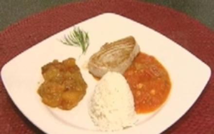Tunfischfilet mit scharfer Tomaten-Chili-Soße und Mangochutney - Rezept - Bild Nr. 8