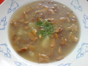 Pilzsuppe - Pfifferlinge - Rezept