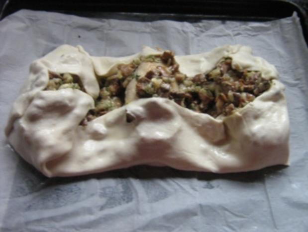 Hähnchenbrust mit Pfifferlingen in Blätterteig - Rezept - Bild Nr. 12