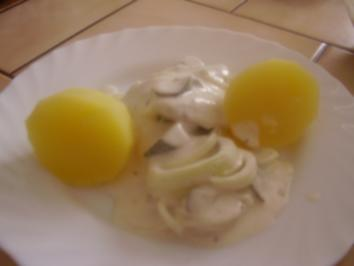 Bismarkhering in heller Marinade + Pellkartoffeln - Rezept