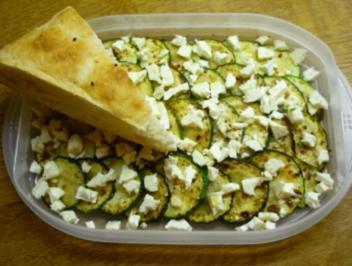 karamellisierte Zucchini mit Feta - Rezept
