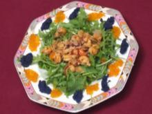 Krebsfleisch mit Mandeln an Salat - Rezept