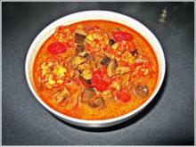 Thai Garnelen Suppe mit Kokosmilch - Rezept