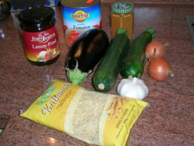 Kritharaki mit Gemüse und Lammfleisch (griechische Nudelspezialität mit Lammhack -geht auch mit Rind, wer Lamm absolut nicht mag) - Rezept - Bild Nr. 2