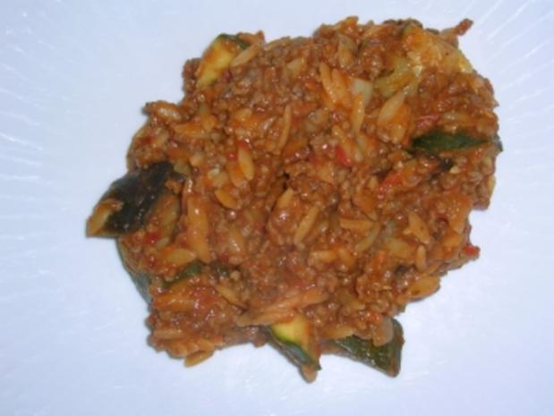Kritharaki mit Gemüse und Lammfleisch (griechische Nudelspezialität mit Lammhack -geht auch mit Rind, wer Lamm absolut nicht mag) - Rezept - Bild Nr. 5