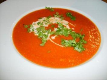 Paprikasuppe mit Fetakäse - Rezept