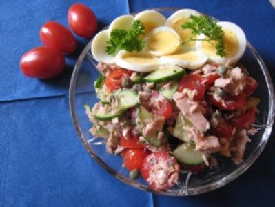Tunfischsalat nach Art des Hauses, kalorienarm - Rezept