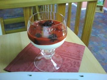 Beerencocktail mit Himbeersoße - Rezept