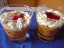 Ein fruchtiges Dessert mit Schwips - Rezept