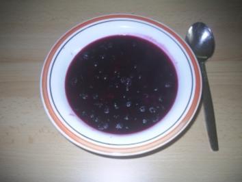 Vegetarisch - Blaubeersuppe - Rezept