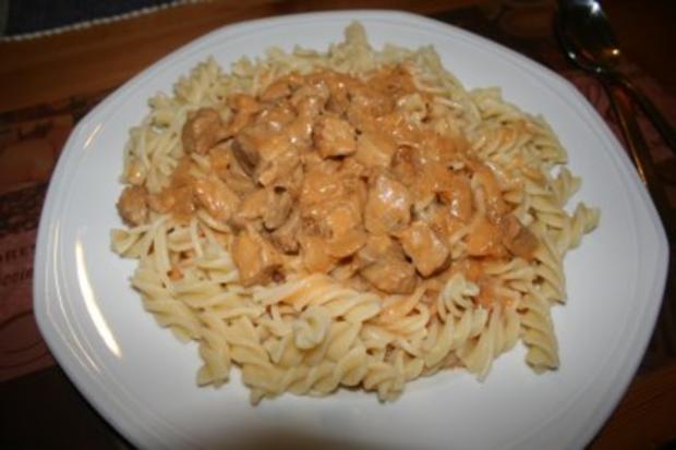 Mittagessen: Nudeln mit Paprikarahmsoße - Rezept - Bild Nr. 2