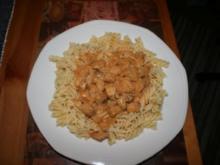 Mittagessen: Nudeln mit Paprikarahmsoße - Rezept