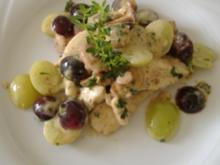Riesling-Hähnchenschnitzel mit Pfifferlingen und Trauben - Rezept