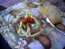 Salate: Salami-Käse-Salat - Rezept