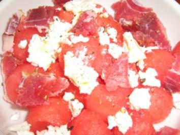Salziger Wassermelonen - Salat - Rezept