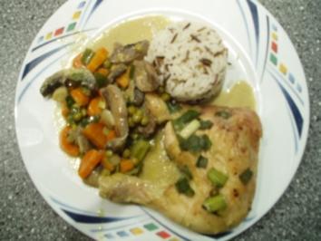 Indisches Curryhuhn im Gemüsebeet - Rezept