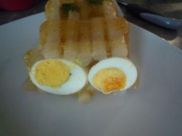 Eier in Aspik - Rezept