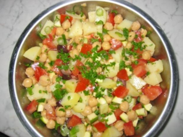 Kartoffel-Kichererbsen-Salat - Rezept