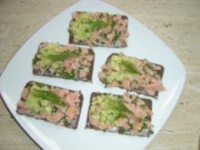 Lachstatar-Häppchen - Rezept