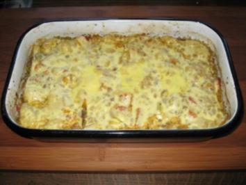 Hackfleisch-Paprika-Gnocci-Auflauf - Rezept
