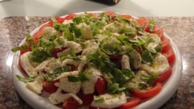 Tomate- Mozzarella die kalte Variante - Rezept