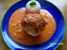 Bärti's gefüllter Paprika mit Reis - Rezept