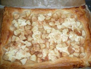 Apfel auf Blätterteig mit Créme fraîche und Zimt - Rezept