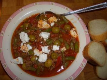 Bohnenpfanne nach griechischer Art - Rezept