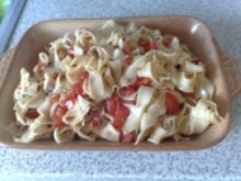 Sommerlicher Tomaten - Nudelsalat - Rezept