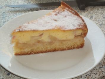 Apfelkuchen mit Vanille-Eiercreme - Rezept