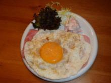 Schinken-Käse-Brot mit Ei - Rezept