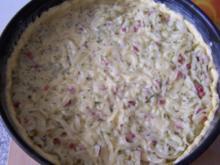 Runder Zwiebel-Speck-Kuchen - Rezept