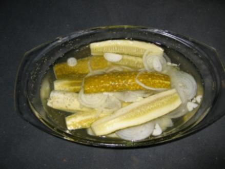 Salz-Gurken - Rezept