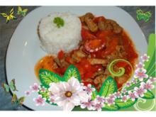 Fleisch : Schnitzelpfanne mit Paprika - Rezept