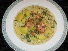 Bayrische Kartoffelsuppe - Rezept