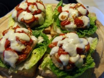 Schweinischer Toast auf mediterane Art - Rezept